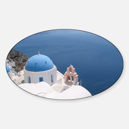 Santorini Sticker (Oval)