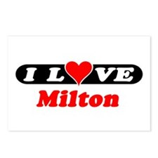 I Love Milton Postcards (Package of 8)