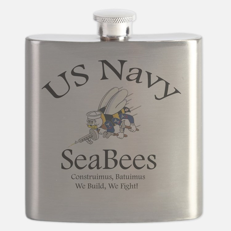 SeaBee Shirt Photo Flask