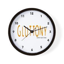 Gluttony Logo Wall Clock