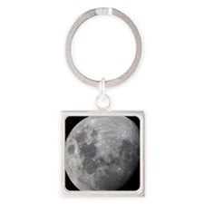 Full Moon Rising Square Keychain