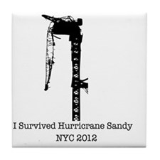 Hurricrane Sandy Tile Coaster