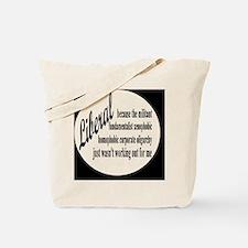liberalexpbutton Tote Bag
