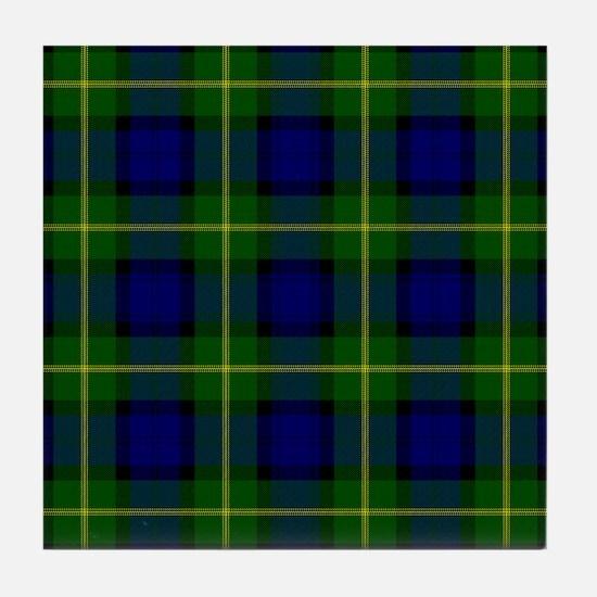 Gordon Scottish Tartan Tile Coaster