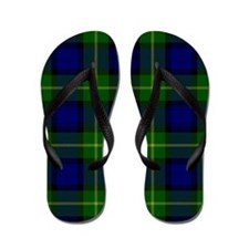 Gordon Scottish Tartan Flip Flops