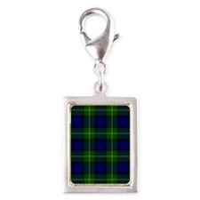 Gordon Scottish Tartan Silver Portrait Charm