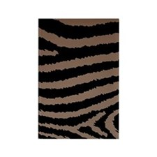 Chocolate Brown And Black Zebra P Rectangle Magnet