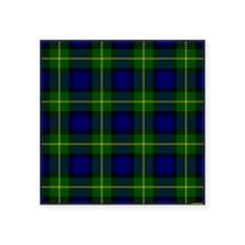 "Gordon Scottish Tartan Square Sticker 3"" x 3"""