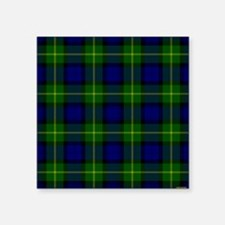"Gordon Scottish Tartan Square Sticker 3"" x 3"""