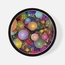 Fractal Bubbles Clock Wall Clock