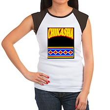 CHIKASHA Women's Cap Sleeve T-Shirt