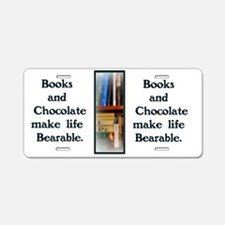 Books  Chocolate Aluminum License Plate
