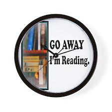 Go Away Im Reading Wall Clock