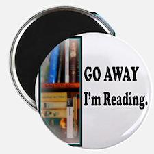 Go Away Im Reading Magnet