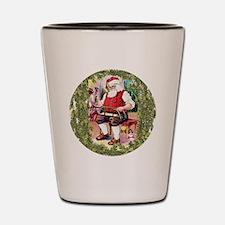 Santa In His Workshop Shot Glass