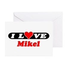 I Love Mikel Greeting Cards (Pk of 10)