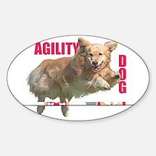 Golden Retriever Agility Dog Decal