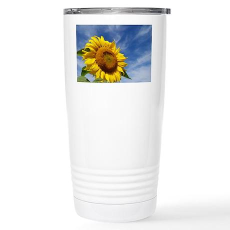 Sunflower Reaching for Stainless Steel Travel Mug