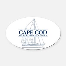 Cape Cod - Oval Car Magnet
