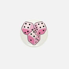 Bunco Breast Cancer Dice Mini Button
