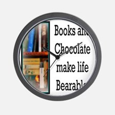 Books and Chocolate Wall Clock