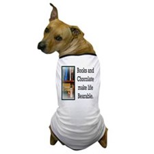 Books and Chocolate Dog T-Shirt