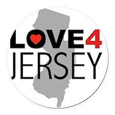 Love 4 Jersey Round Car Magnet