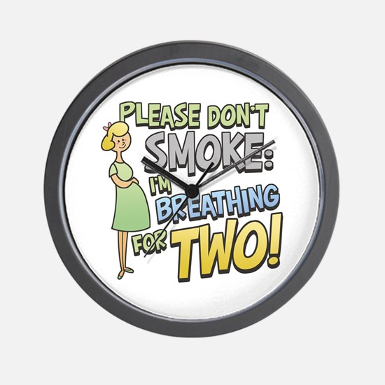 Breathing for Two Wall Clock