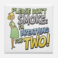Breathing for Two Tile Coaster