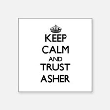 Keep Calm and TRUST Asher Sticker