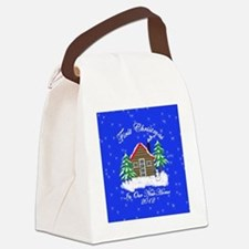 First Christmas New Home Canvas Lunch Bag