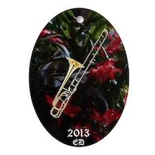 Trombone Ornament (Oval)