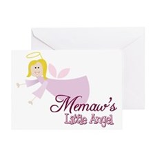 Memaws Little Angel Greeting Card