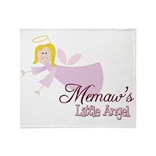 Memaws Little Angel Throw Blanket