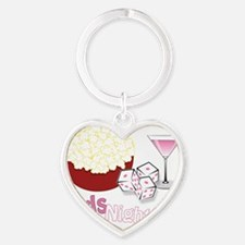 Girls Night Out Heart Keychain