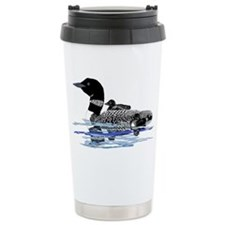 loon with babies Travel Mug