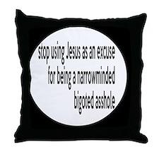 bigotedbutton Throw Pillow