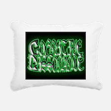 CogDis puzzle BLACK BACK Rectangular Canvas Pillow