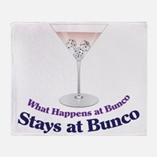What Happens at Bunco Throw Blanket