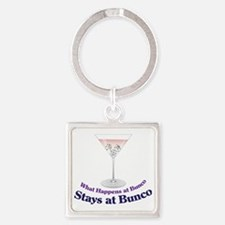 What Happens at Bunco Square Keychain