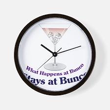 What Happens at Bunco Wall Clock