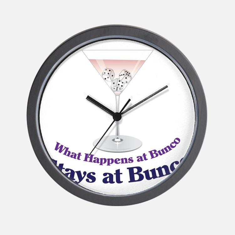 What Happens at Bunco Wall Clock
