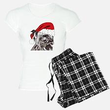 Cute Yorkie Christmas Puppy Pajamas