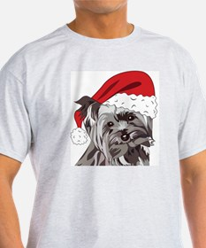 Cute Yorkie Christmas Puppy T-Shirt