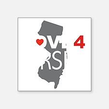 "Love 4 Jersey Square Sticker 3"" x 3"""