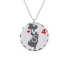 Love 4 Jersey Necklace Circle Charm