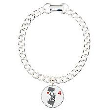 Love 4 Jersey Charm Bracelet, One Charm