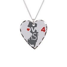 Love 4 Jersey Necklace Heart Charm