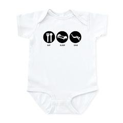 Eat Sleep Dive Infant Bodysuit