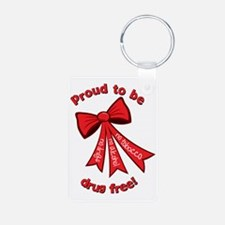 Proud to be drug free! Keychains